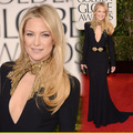 Kate Hudson Golden Globes 2013 Red Carpet Mermaid High Beaded Neckline Evening Gowns Designer Celebrity Dress Free Shipping