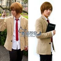 Death Note Light Yagami Cosplay Costume Japanese School Uniform Casual Men Cosplay Suit