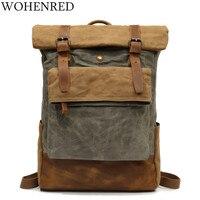 Men's Casual Daypacks Vintage Canvas Backpack School Boys Designe Casual Fashion Waterproof Travel Bag Male Back Pack Bagpack