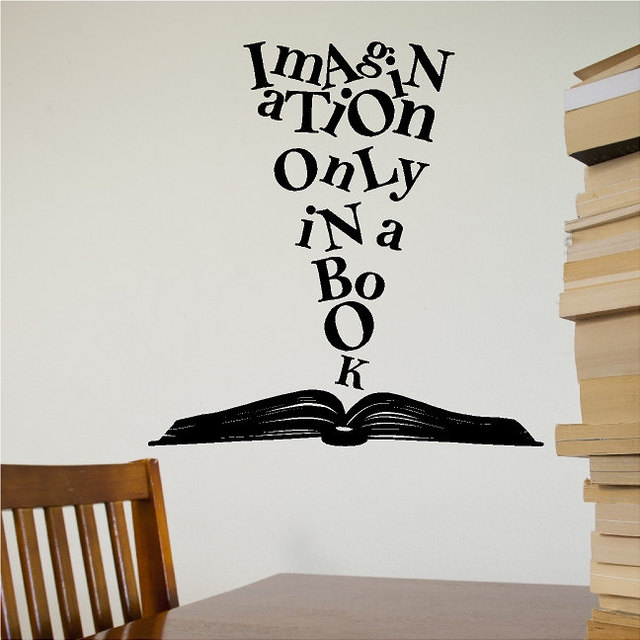 YOYOYU Art Home Decor Imagination Olny In A Book Wall Decal Vinyl ...