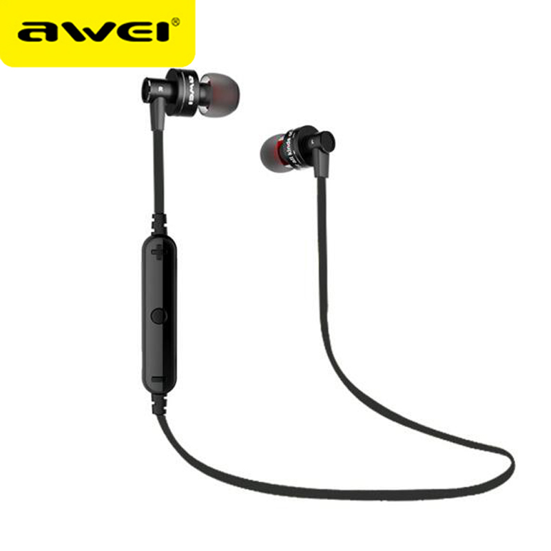 Awei A990BL Bluetooth Stereo Headphone Wireless Music Earphone Sport Headset Handsfree fone de ouvido Auriculares With Mic qcy qy7 wireless bluetooth 4 1 stereo sport earphone headphone studio music headset with mic black green
