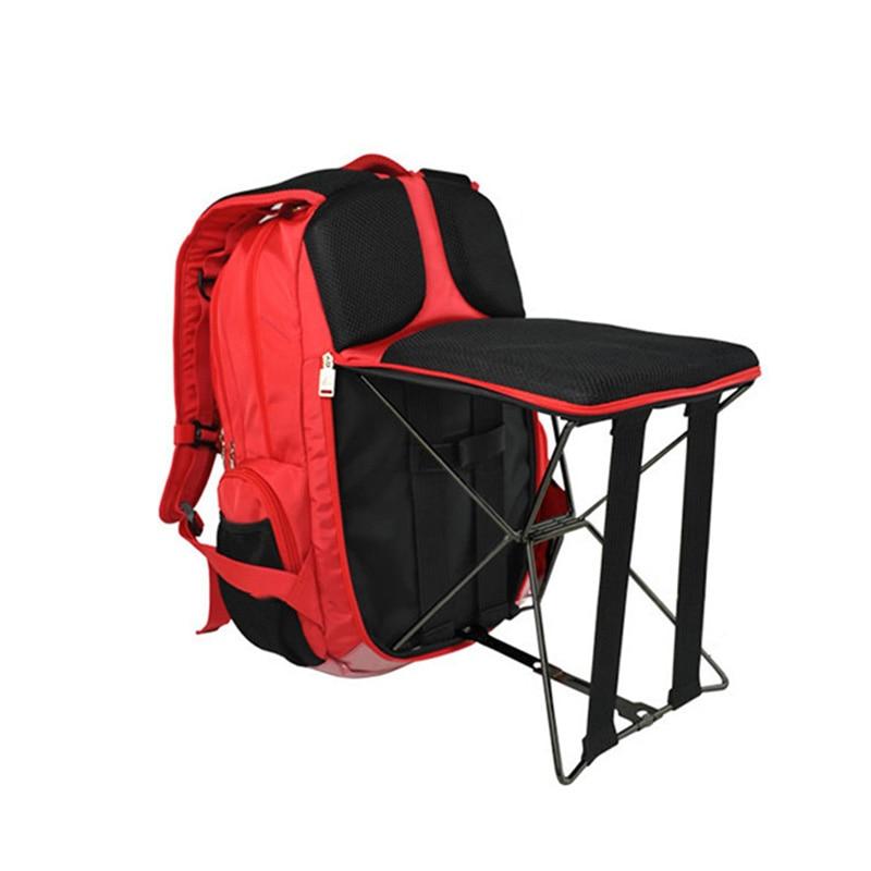 Haute qualité chaise de pêche 20-35L Portable tabouret pliant sac à dos voyage escalade en plein air utilisateur chaise sacs à dos