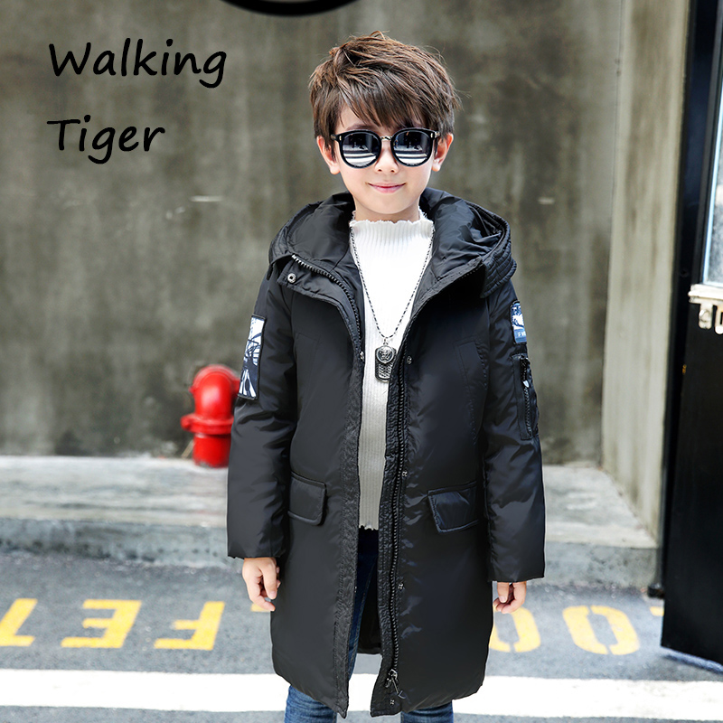Boys clothing Down jacket tops coat children winter 2017 new boy clothes Keep warm kids thickening Outerwear Parkas new 2017 russia winter boys clothing warm jacket for kids thick coats high quality overalls for boy down