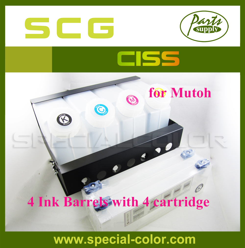 Mutoh Printer Ink Supply System CISS without chip (4X4) amazing price 50 meter solvent 4 line ink tube spare part for all inkjet printer machine ink supply system ink pipe