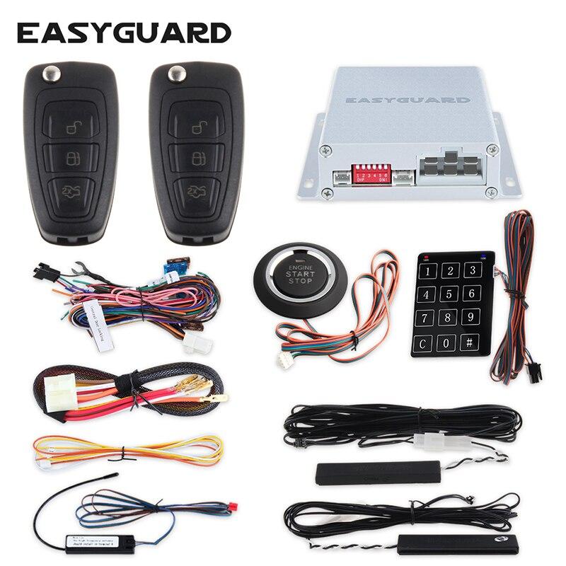 EASYGUARD חכם PKE אזעקה לרכב מערכת psssive keyless - אלקטרוניקה לרכב