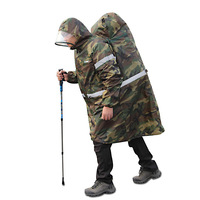 Outdoor Camouflage reflective Backpack Raincover Multifunction Hiking Fishing Poncho Waterproof Camping Climbing Raincoats