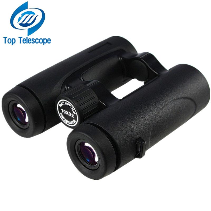 Binoculars 10x32 Professional Telescope Waterproof protbale HD for hunting tourism camping with iphone adapter bak4 Rouya black