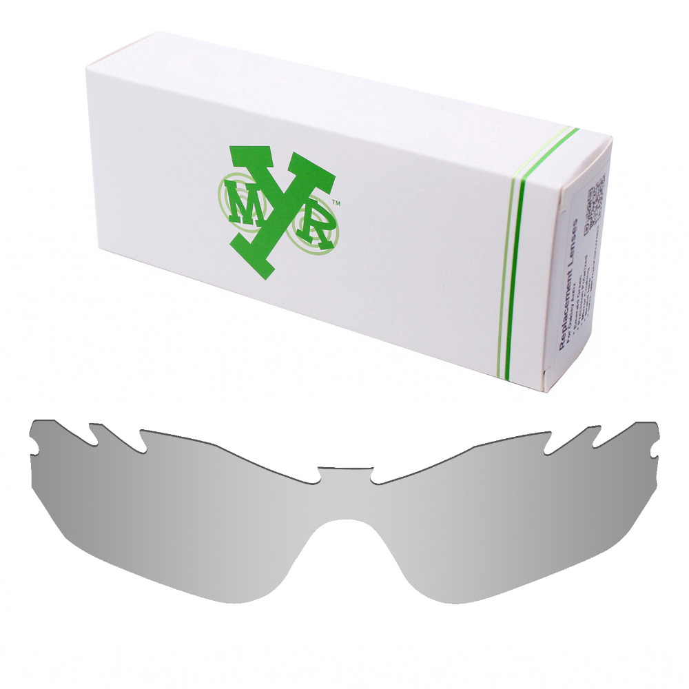 c52f5cdf59 Mryok POLARIZED Replacement Lenses for Oakley Radar Edge Vented Sunglasses  Silver Titanium