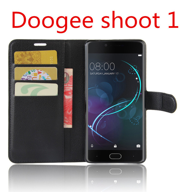 Doogee Shoot 1 Case Flip PU Leather wallet Cover Case For Doogee shoot 1 pro  Special Holster original  skin bag black handbag
