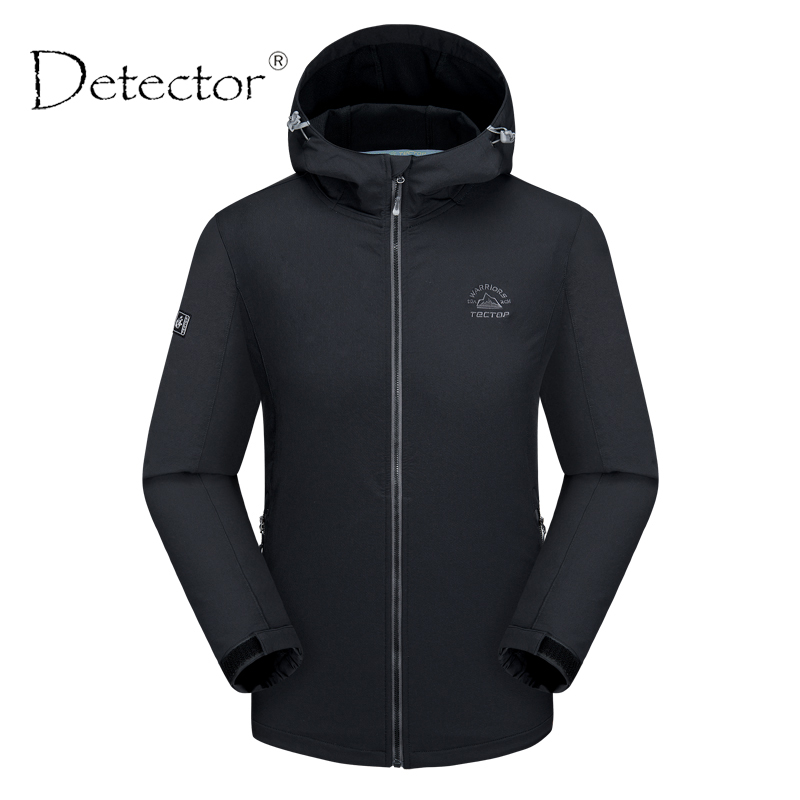 Detector Men Outdoor Waterproof Windproof Thermal Windbreaker Climbing Camping Hiking Jacket Spring Autumn Warm Coat brand new autumn winter men hiking pants windproof outdoor sport man camping climbing trousers big sizes m 4xl free shipping