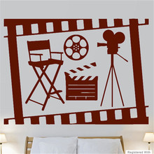 G349 Cinema Movie Film Roll Camera Cool Living Room Wall Art Stickers Decals Vinyl Decorative art of living room wall stickers