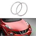 Стайлинга автомобилей Глава Лампа Переднего Бампера Фары Кольцо Обшивка Багажника для Nissan Juke 2010-2014 Abs Хром Автоаксессуаров 2 шт. в набор