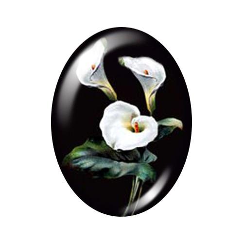 Красивые Винтажные Цветы Роза Маргаритка 10 шт. 13x18 мм/18x25 мм/30x40 мм овальные фото стекло кабошон демонстрационная плоская задняя часть изготовление TB0043 - Цвет: G