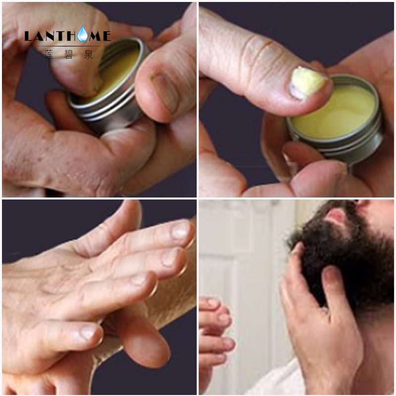 New Lanthome Beard Oil and Balm Moustache Wax beard grooming conditioner beard balm for styling moisturizing smoothing gentlemen 3