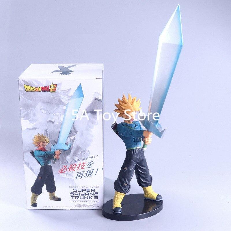 Anime Dragon ball Z Red Hair Goku Trunks Sword Final Hope Slash Zamasu PVC Action Figure Model Toy