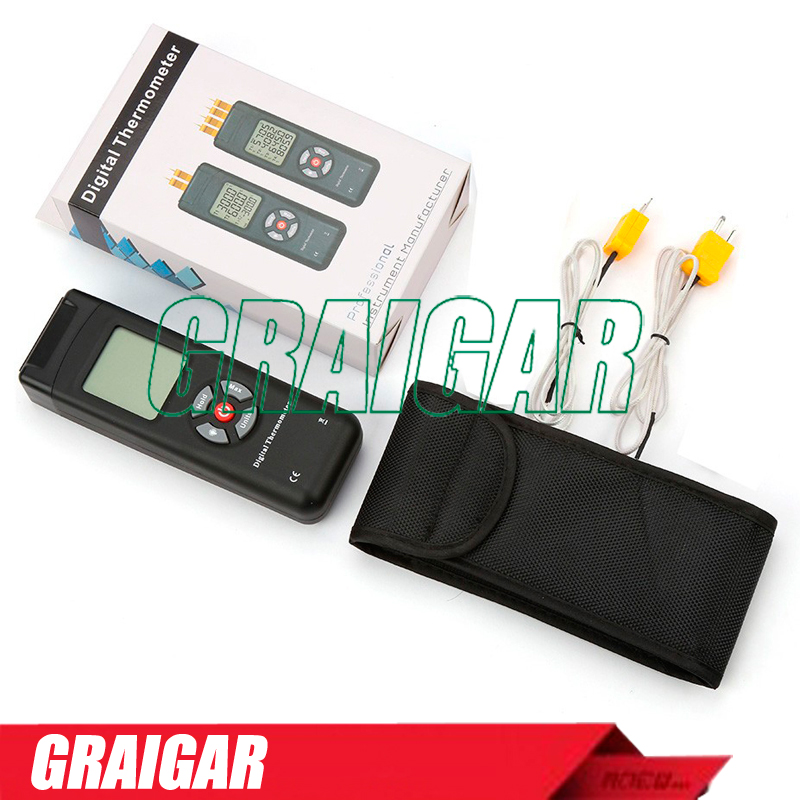 2pcs/lot Digital LCD K Type Thermometer Temperature sensor Thermocouple Probe detector TL-TK02
