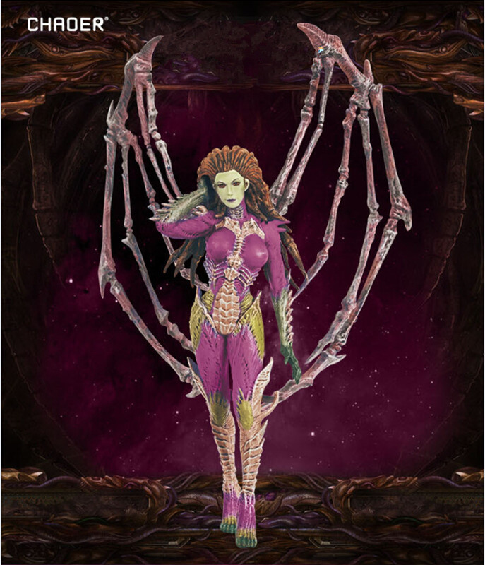 Chaoer Zerg Queen Of Blades Kerrigan Action Figure Game Character Sarah Kerrigan Pvc Figure Toy