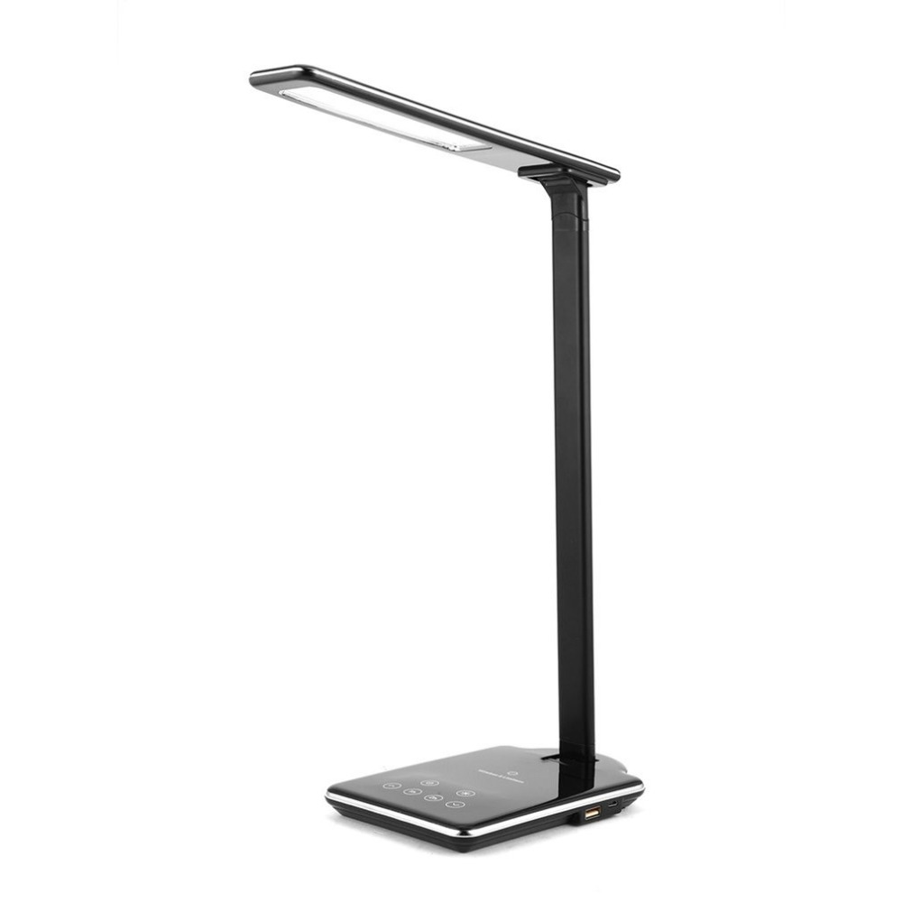Wireless Charging Led Desk Lamp Usb Rechargeable Eye Care