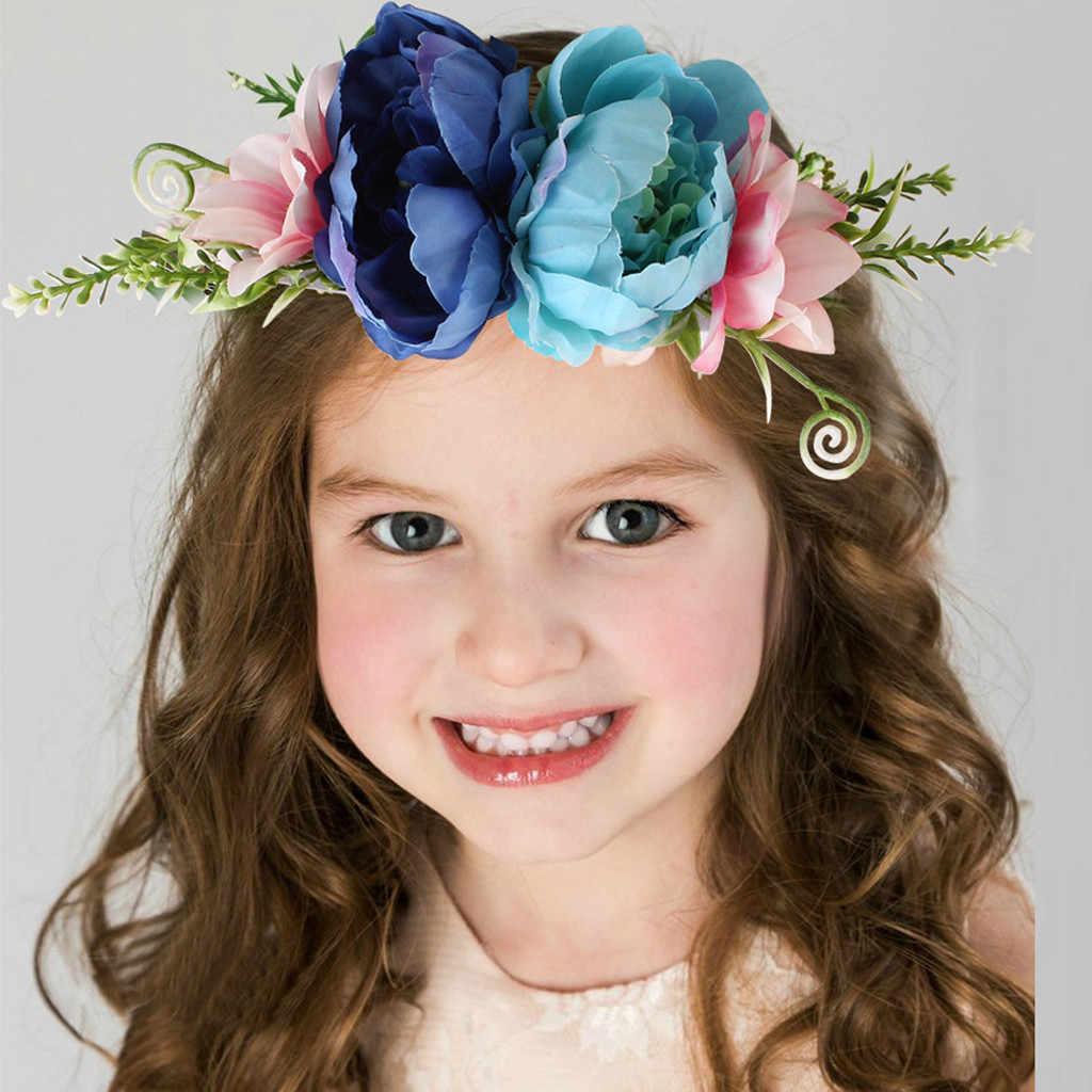 Headband Da Flor do bebê Meninas Rosa Bandas Fita de Cabelo para os Bebés Crianças Turbante Headbands Newborn Hairband Acessórios Para o Cabelo Do Bebê
