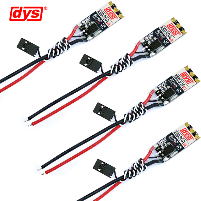 4pcs/lot Original DYS ESC XSD 30A V2 3-5S BLHeli_S Supports Dshot600 Dshot300 for FPV Quadcopter