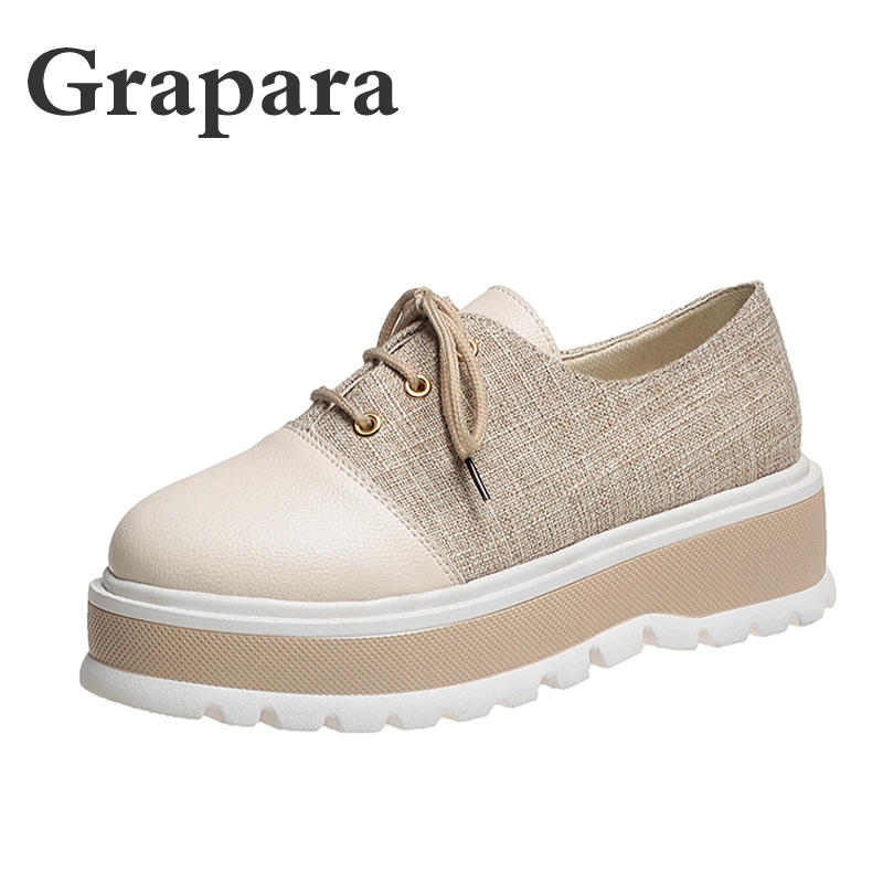 New Summer Women Flats Shoes Platform Sneakers Shoes   Leather     Suede   Cut Out Ladies Casual Shoes Slip On Flats Moccasins Grapara