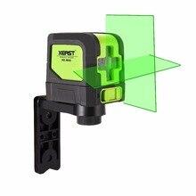 Gorący XEAST MINI XE-M02 2 Linie Zielony Laser Level Samopoziomujący Krzyż Linia Lasera przenośne Zielony Laser Level Darmowa wysyłka