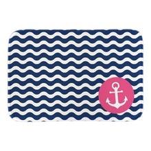 Pink Anchor Cobalt Blue White Zigzag Doormats Home Decor font b Indoor b font Outdoor Soft