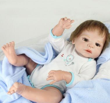 NPKDOLL 22Inch solid doll toy for girl reborn dolls Reborn Baby Doll Girl Newborn Lifelike Realistic Baby Doll Gifts bebe reborn