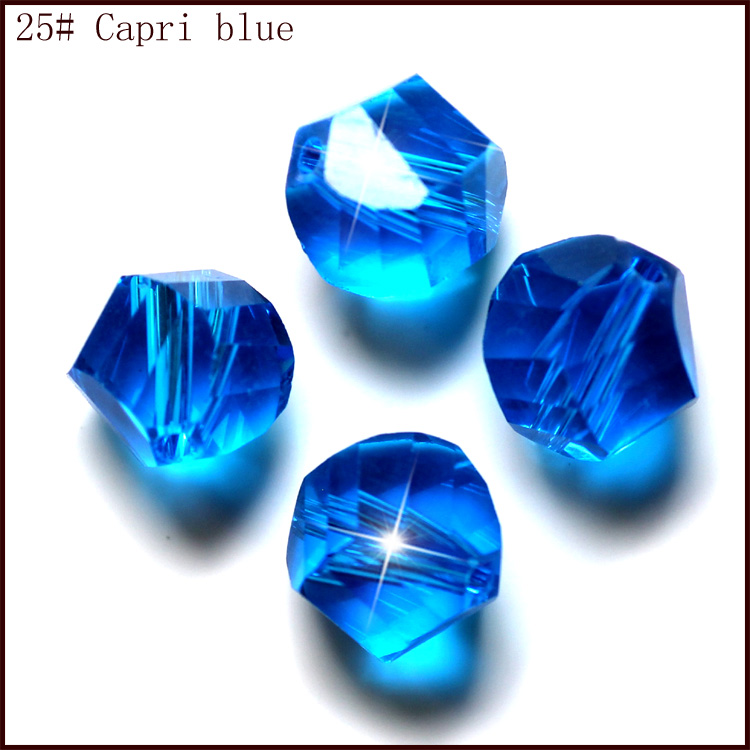 10mm Fancy cube twisted faceted glass crystal beads jewelry accessories wholesale 100pcs in Beads from Jewelry Accessories