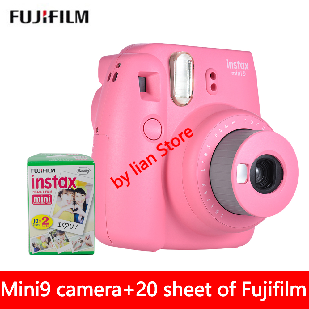 Free shipping of fujifilm Instax Mini 9 +film20 sheet new suite Instax camera automatic timer lomo film camera imaging видеокамера other lomo mini dv
