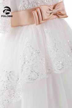 Sweet Off The Shoulder Sequin Beads Lace Flower Girl Dresses For Wedding Girls First Communion Gowns Special Occasion Dresses