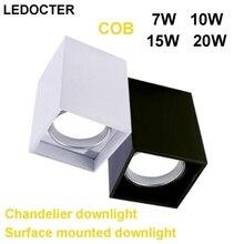 Установленный на поверхности COB 7 Вт 10 Вт 15 Вт 20 Вт Светодиодный светильник легко установить потолочный дисплей вниз Точечные светильники Люстра дома лампы фойе