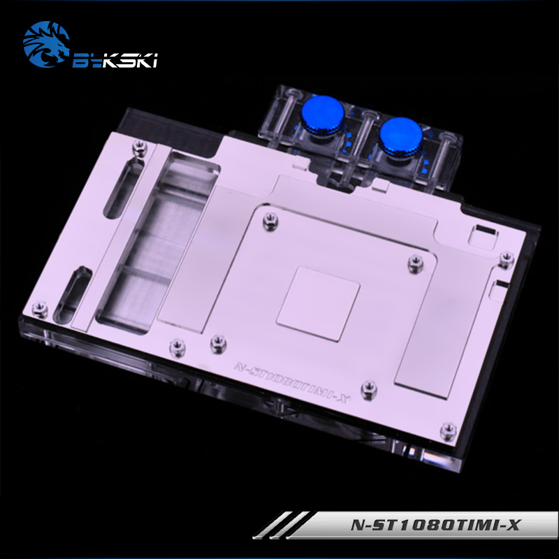 Geuine Bykski N-ST1080TIMI-X for ZOTAC <font><b>GeForce</b></font> <font><b>GTX</b></font> <font><b>1080TI</b></font> mini PC WaterCooling Block RGB / RBW / gpu cooler V4 edition image