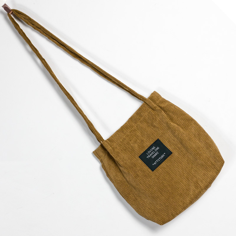 Pink Handbag Totes Canvas-Bag Cloth Crossbody Girls Female Corduroy Women Ladies Pure-Cotton