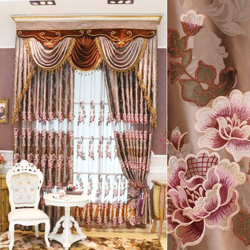 European Royal Luxury Curtains For Bedroom Window Curtains