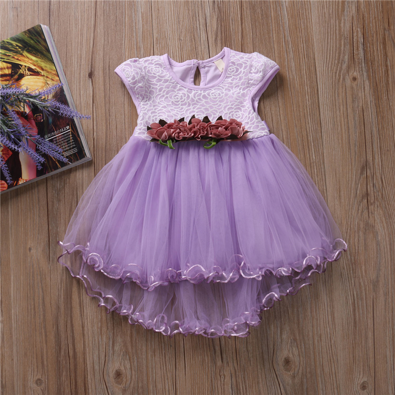 цены Baby Girls Floral Princess Dress Toddler Infant Baby Girls Clothes 2017 New Arrival Summer Fashion Dress Party Dresses Age 0-3Y