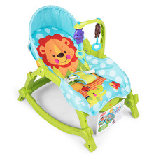 2017 baby rocking chair sit and lie multifunction folding electric chair recliner appease the child toys cradle(China)
