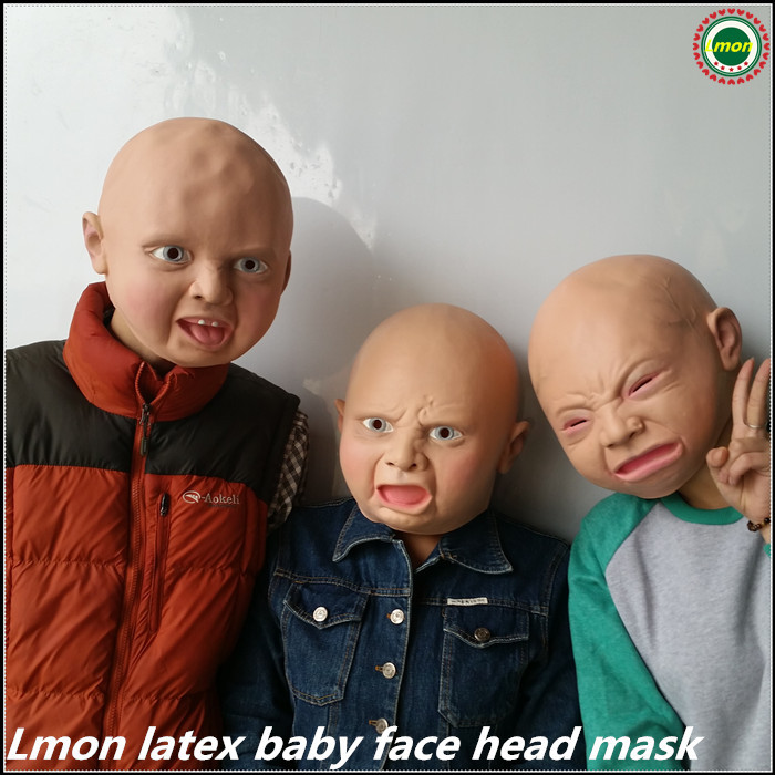 Party Cosplay baby Mask Creepy Latex mask Creepy Cry Baby Face Head Mask Halloween Costume for Party-in Party Masks from Home u0026 Garden on Aliexpress.com ...  sc 1 st  AliExpress.com & Party Cosplay baby Mask Creepy Latex mask Creepy Cry Baby Face Head ...