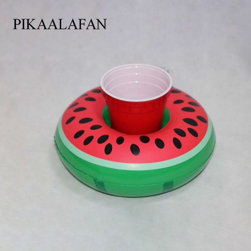 Pikaalafan Watermelon Float Drink Cup Holder Pool Party Drink Float Toys Watermelon Inflatable Cup Holder Beach Party Supplies