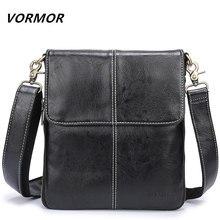 0bfca8b0d7c9 (Отправка из RU) Vormor кожа Для мужчин сумка кожаная сумка через плечо Для  мужчин Курьерские сумки маленький Повседневное дизайнер Сумки человек.