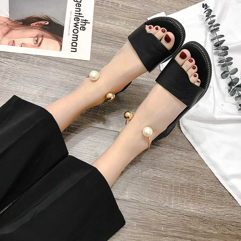 186a8fff2 ... Women Sandals Flip Flops 2019 New Summer Fashion Rome Slip-On  Breathable Non-slip