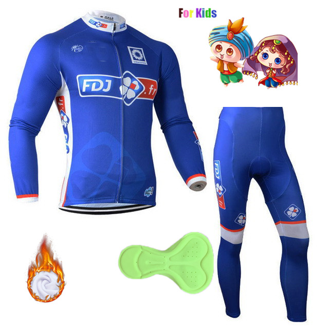 FDJ Bike Uniform Cycling Jersey Set Winter Thermal Fleece Bicycle Clothing MTB Bike Wear Clothes Motocross Dress Ropa Ciclismo недорго, оригинальная цена