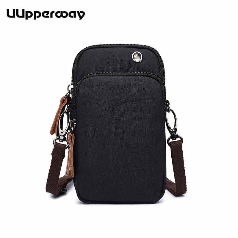 Men's Messenger Bag Waterproof Small Square Bag High-Quality Male Day Clutch Casual Military Running Arm Pack with Earplug Hole