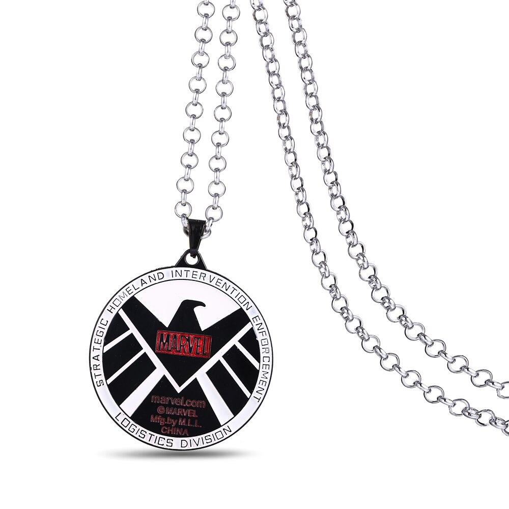 J Store Metal Anime movie The Avengers Superhero S H I E L D Badge Pendant