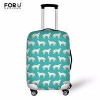 FORUDESIGNS Pyrenees Dog Suitcase Case Travel Trolley Suitcase Protective Cover for 18 30 inch Travel Accessories Luggage Cover