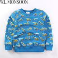 Kid Shirt Fleece Long Tees Baby Boys T-shirt Roupas Infantis Menino 2017Autumn Winter Warm Boys Outfit Kids Boys Clothing 2-7Y