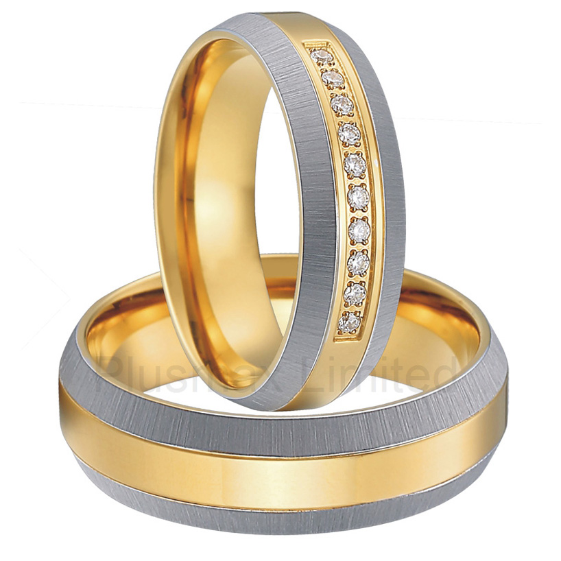 OEM/ODM Global retailer unique gold color titanium jewelry anniversary engagement love wedding rings gauss elementary led a60 e27 15w 4100k 23225