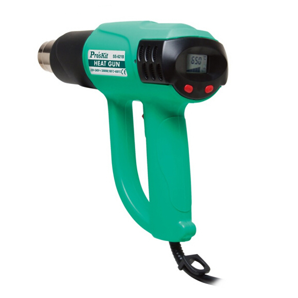 цена на Free Shipping ProsKit SS-621H Heat Gun with LCD Display Hot Air Welding Soldeing Gun 220V~240V,2000W Electrical Tools