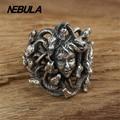 Vintage Serpiente belleza Tussau Anillo real 925 de plata de ley 925 joyas para hombre anillo de boda joyería de moda Anillo de Plata Tailandés Punk