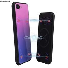 Manyetik kablosuz şarj durumda iPhone 8 artı harici güç bankası pil şarj için iPhone X XS temperli cam kapak
